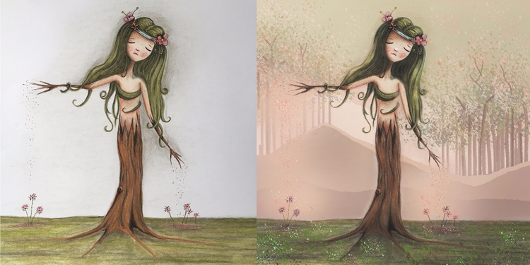 Flowergirl Tree' Left finished  - femkemuntz | ello