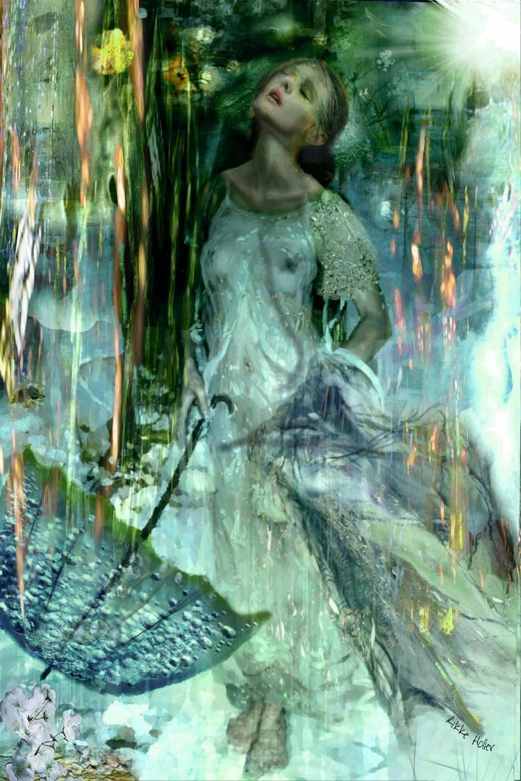 «Dreaming summerrain» 120x80 cm - rzholler | ello