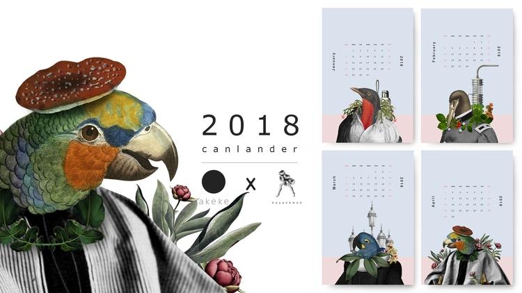 Birdman 2018 Postcard Calendar  - kayankwok | ello