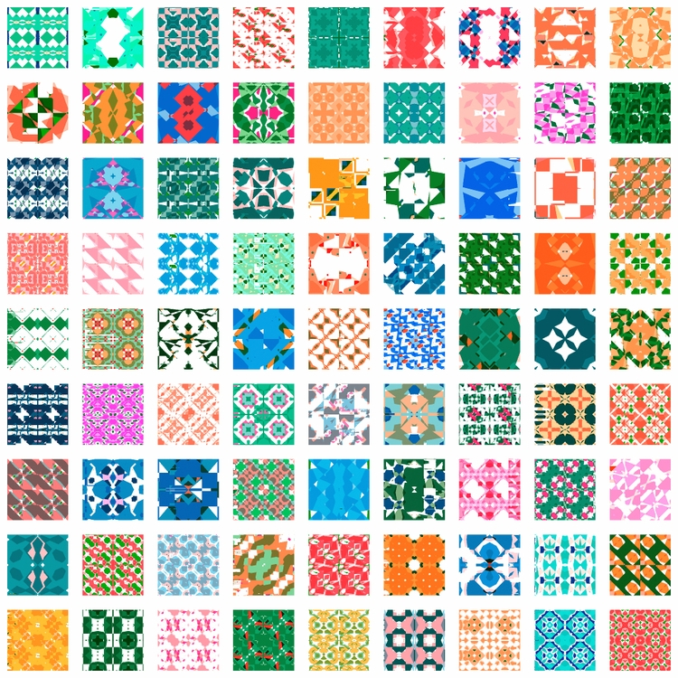 Randomly generated patterns Fil - yuyatakeda | ello