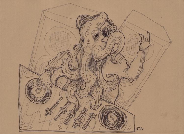 DJ Cthulhu fed sound silence  - dj - jju | ello