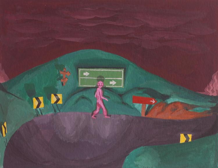 painting, gouache, art, dark - rseles | ello