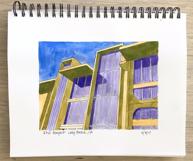 sketchbook place love architect - angela_oliver_art | ello