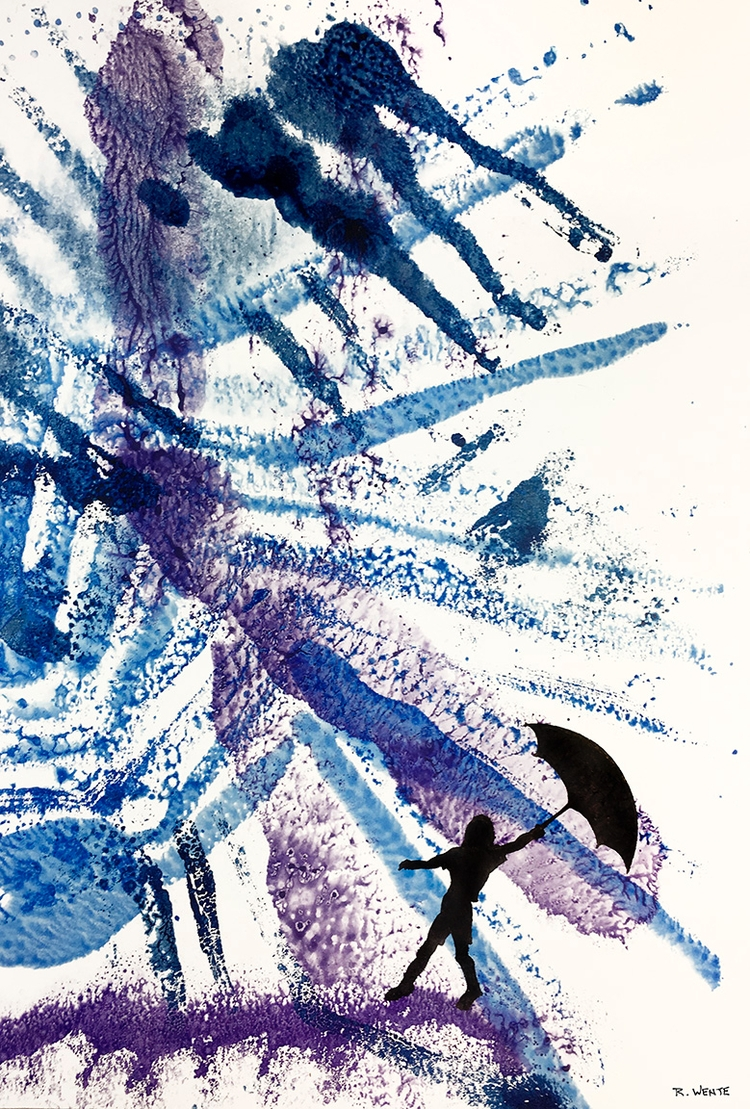 Time Year ink - watercolor, painting - robert_wente | ello