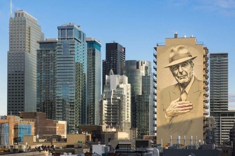 Mural tribute Leonard Cohen Art - streetartunitedstates | ello