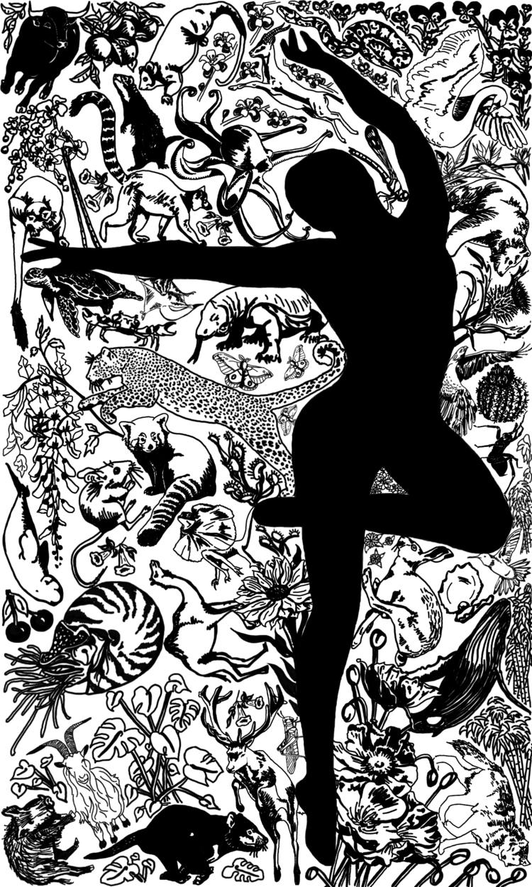 Digital illustration Magician B - inklining   ello
