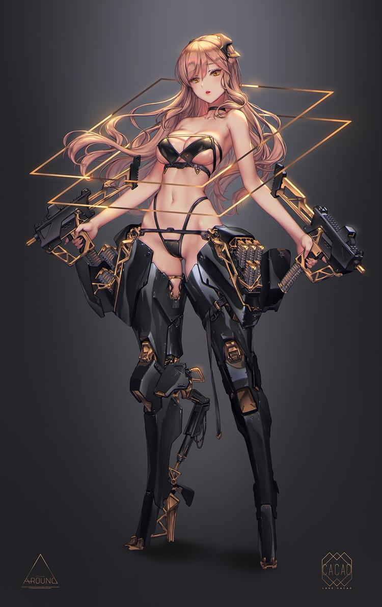 anime, scifi, cyborg - ukimalefu | ello
