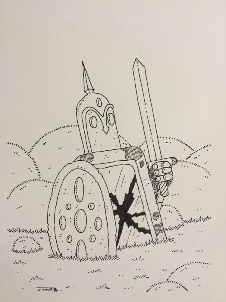 11 le robot guerrier perdu / lo - jimmy-draws | ello