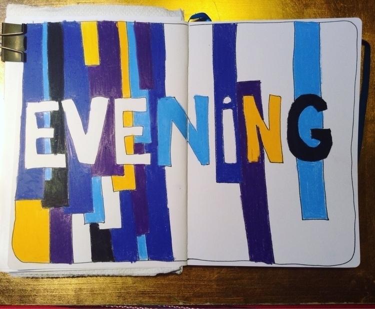 Evening - doodles, sketching, sketchbook - anna_bki | ello