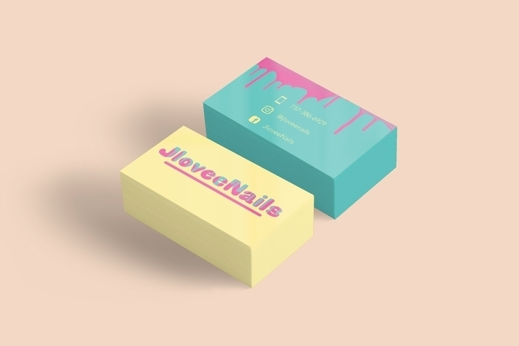 Business Card Designs nail tech - sdreynolds | ello
