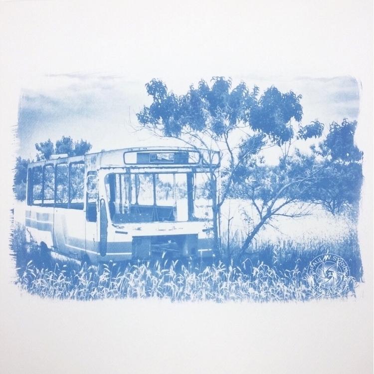 Bus. Cyanotype - paulsyrius | ello