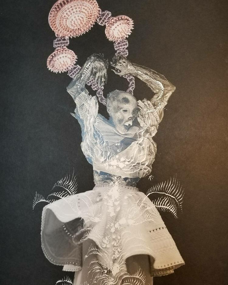 Inked (broke nibs - collage, collageart - curtispatrickarnold   ello