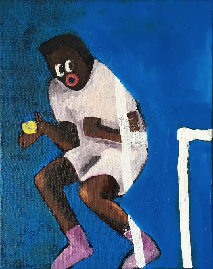 Lost painting. 'Tennis', 24x30  - cm_connymaier | ello