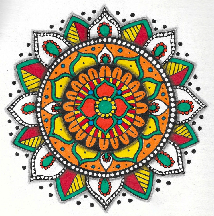 Colorful mandalas fun draw piec - vincentvicari | ello