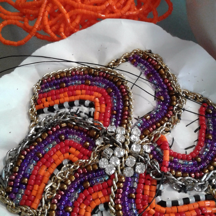 fun bag charm - chain embroider - echoforsberg | ello