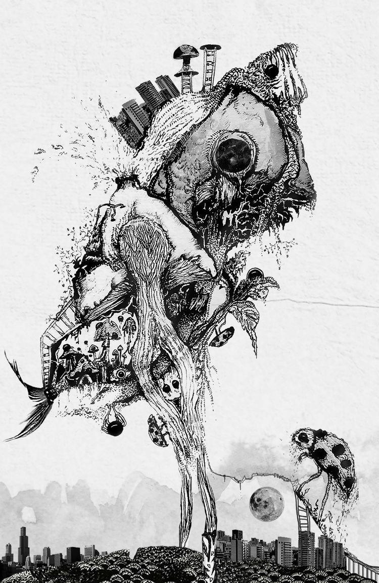 illustrations, visualart, blackink - ibtisamdib | ello