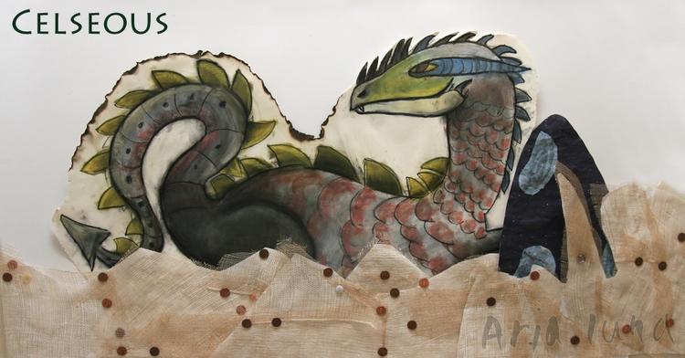 pieces part 9-foot mural titled - arialuna | ello