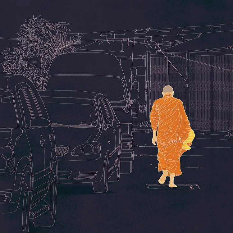 travelbook, walking Bangkok - digitalillustrationworks | ello