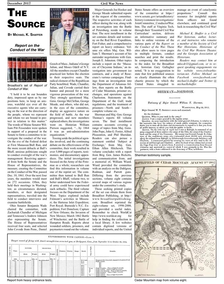 December 2017 Source' article.  - mscivilwar | ello