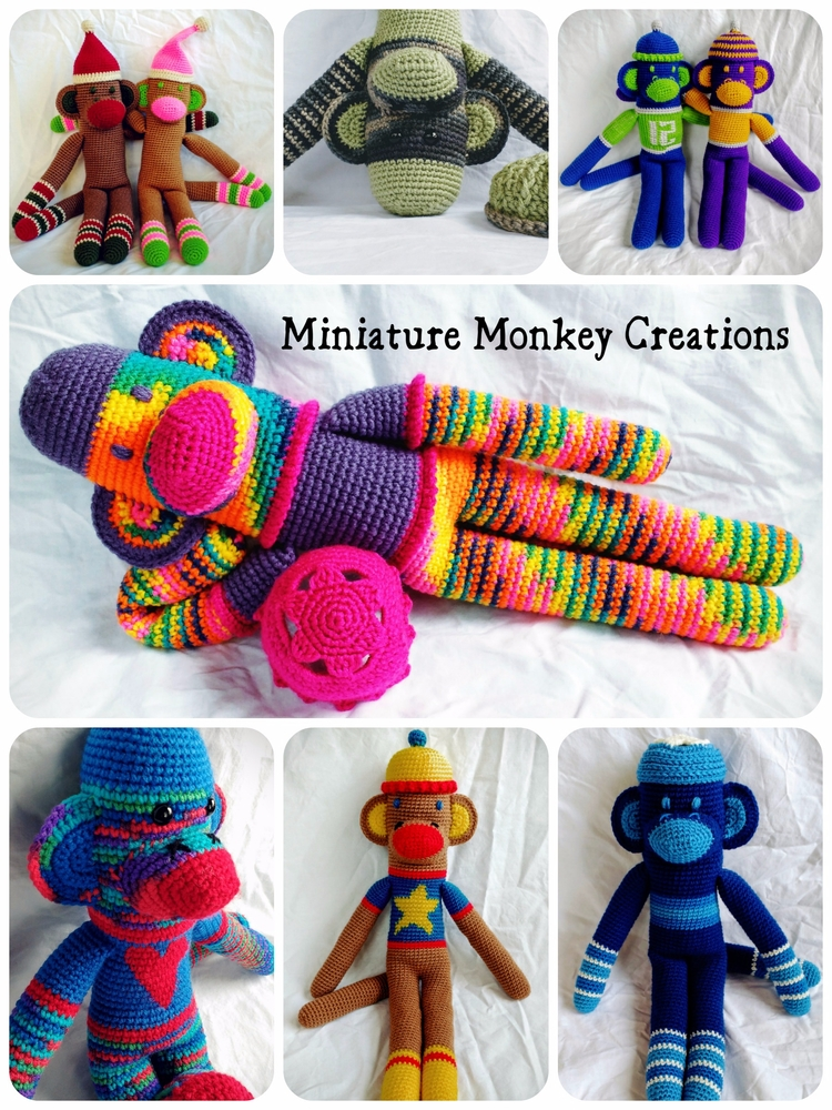 Happy monkeys monkey fear! cust - miniaturemonkeycreations | ello