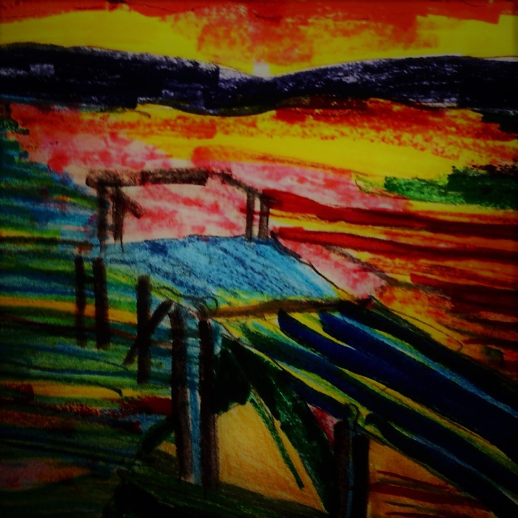 Upclose Sunset Dock Rejoicing L - loveartwonders | ello