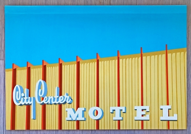 City Center Motel Long Beach, C - angela_oliver_art | ello
