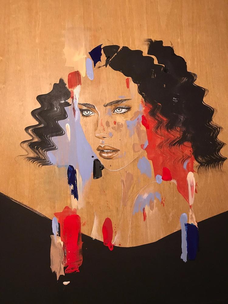 Acrylic stained wood - evoked007 | ello