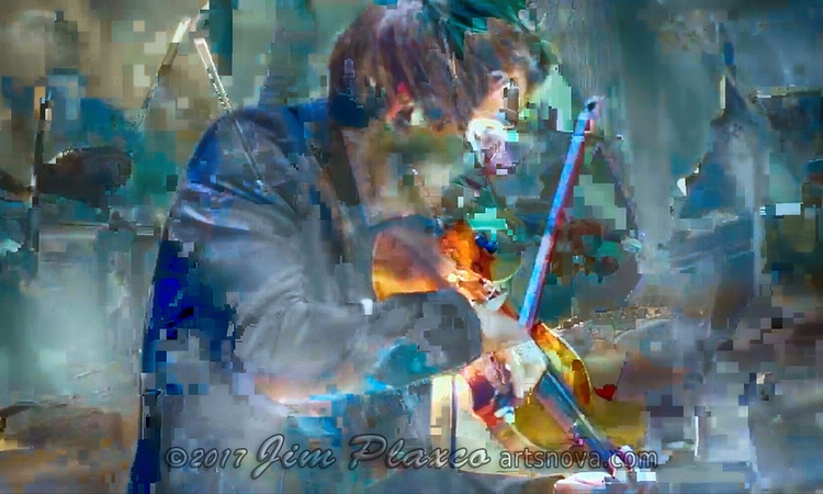 newest glitch art Violinist Vio - jim_plaxco   ello