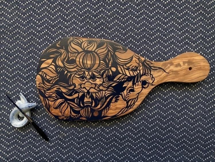 custompaint olive wood - freeflow - lisaottevangergraphicartist | ello