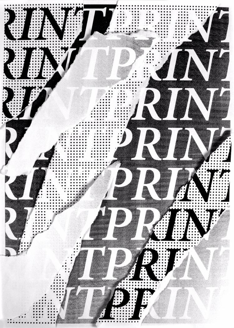 Poster word: PRINT - poster, design - andersbakken | ello