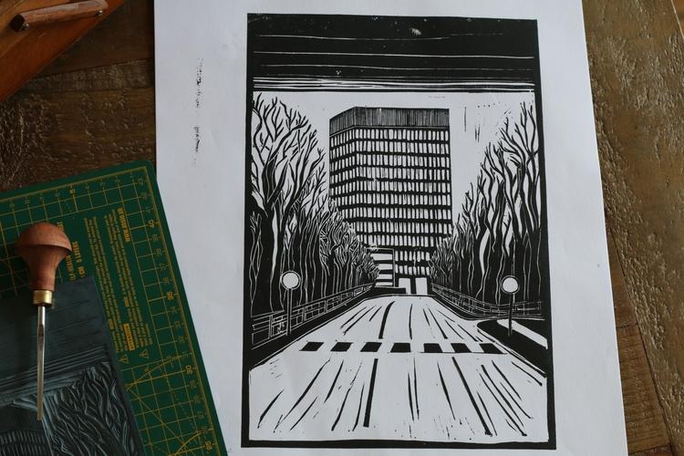 Arts Tower, Sheffield Original  - ruthprints | ello