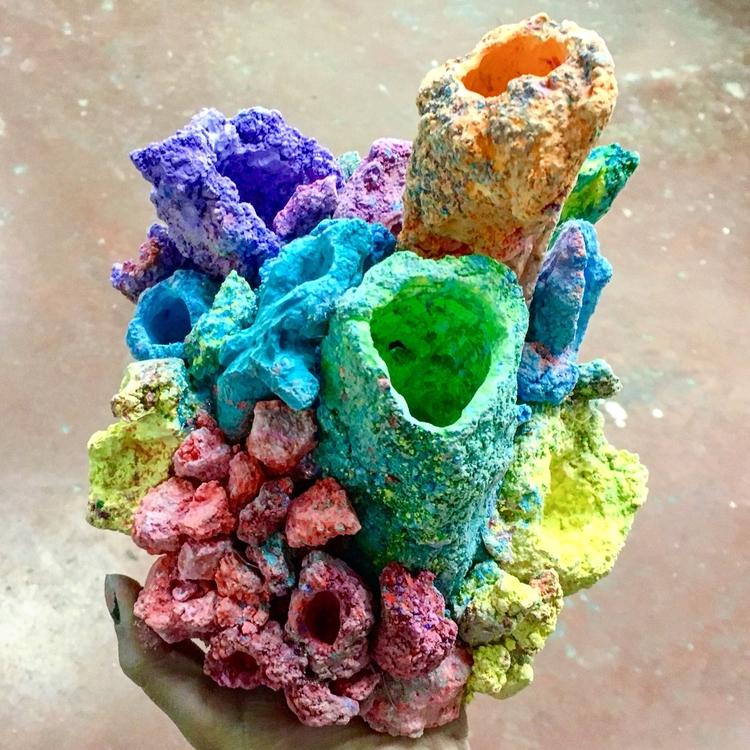 coral sidewalk chalk - sculpture - maubad | ello