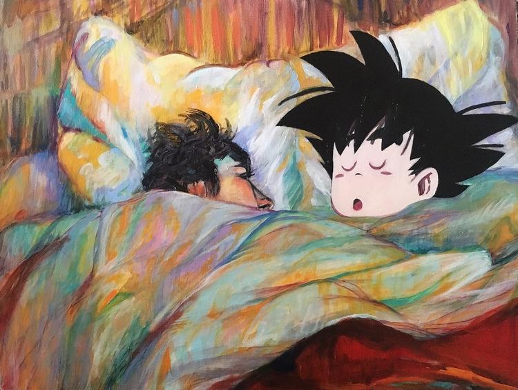 Baby Goku - oilpainting, popculture - maubad | ello