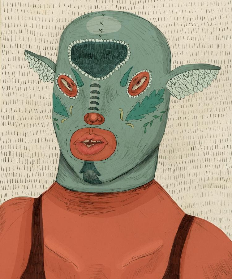 Luchadora - illustration, art, digitalart - missjaws | ello