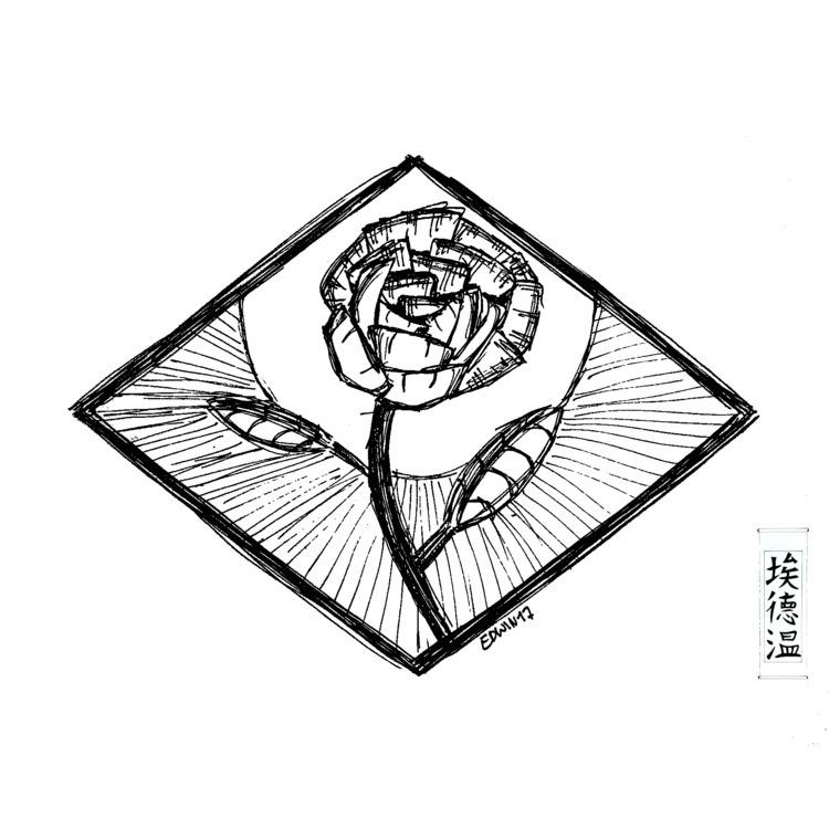 Rose sketch (47) find - draweveryday - edwln | ello
