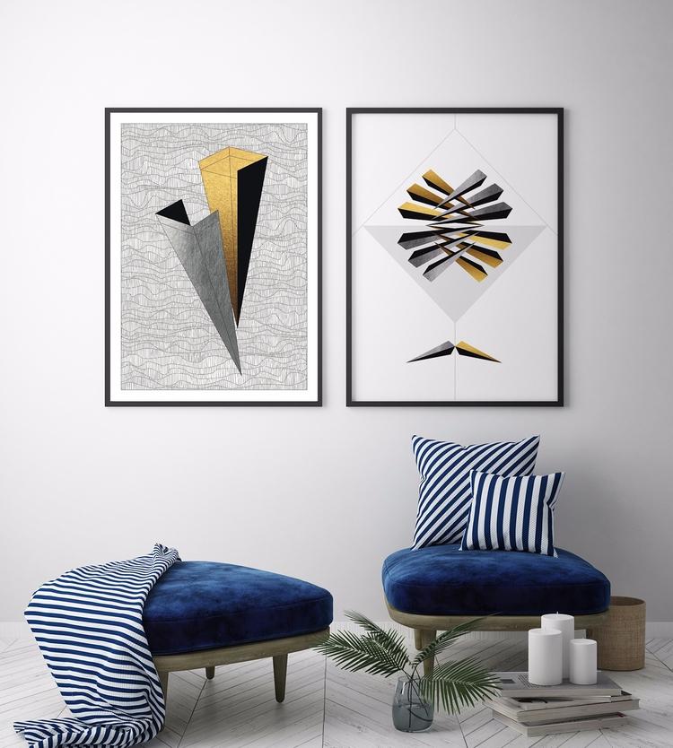 _Hands | Geometry life, poster  - ilobahie | ello