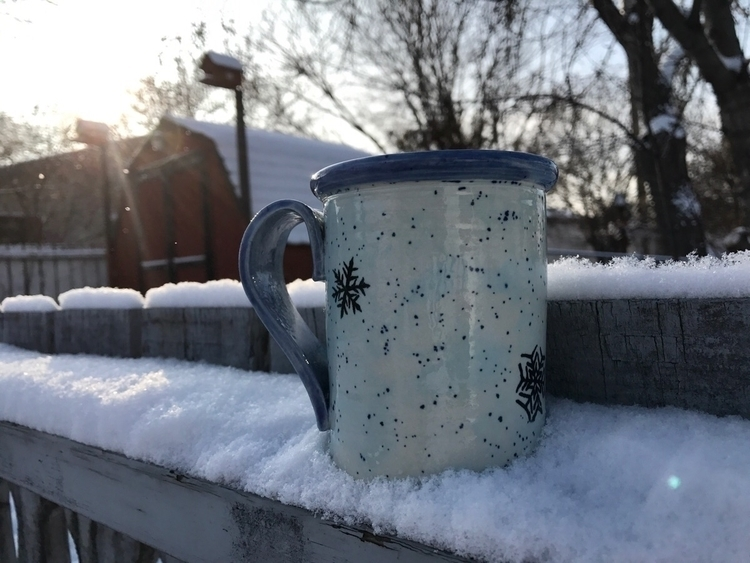 LOVE Snowflake mugs!! Order tod - lilpspottery | ello
