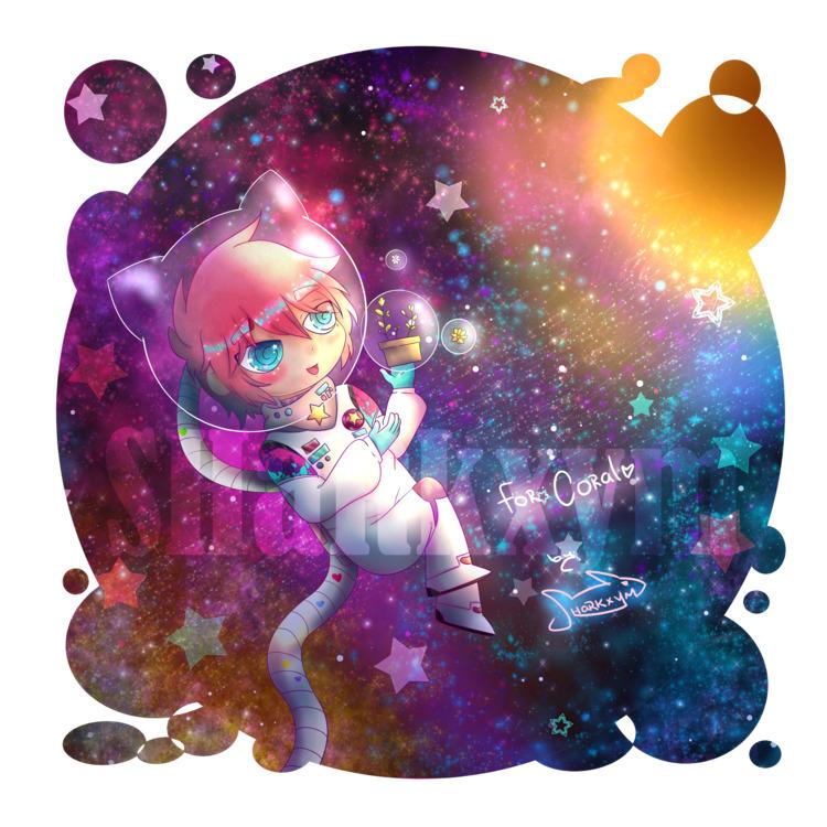 small chibi art trade friend~ C - sharkxym | ello