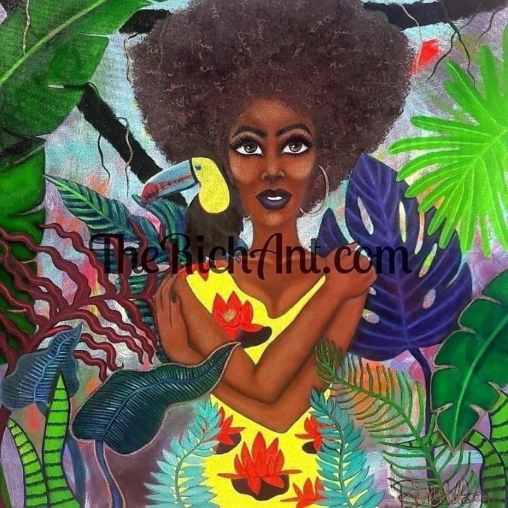 Tropical Paradise 36x36 oil can - therichantart | ello