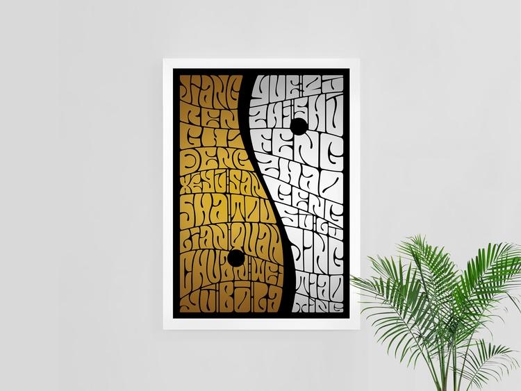 Yin Yang Lettering, Phonetic tr - alexcamachostudio | ello