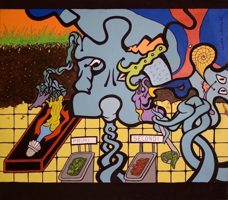 Fenotipo Blues Acrylic marker c - andrea_marchese | ello