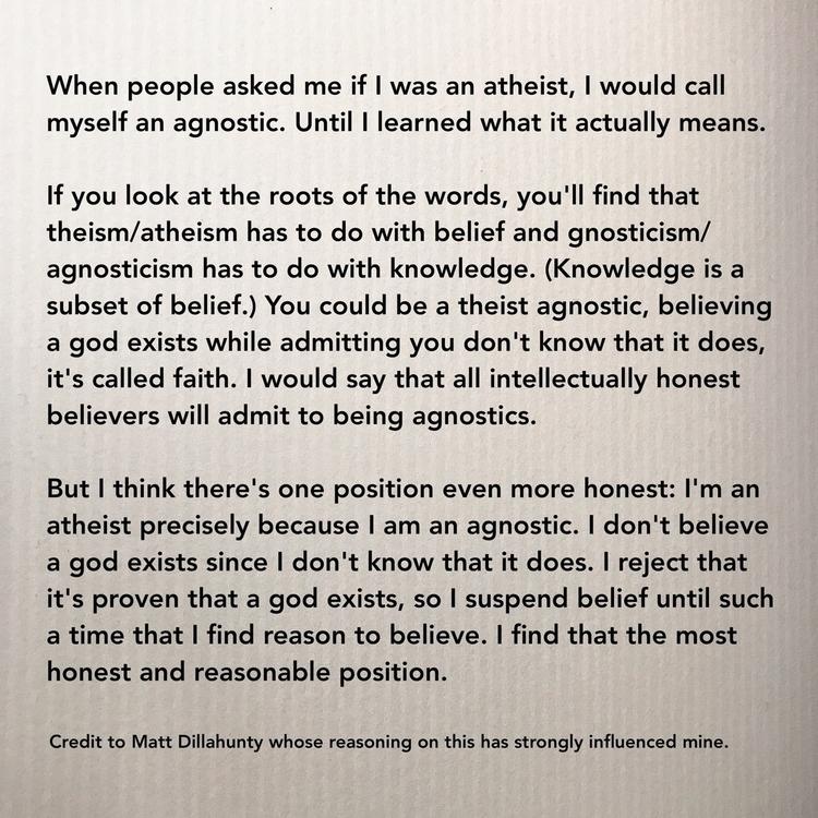 agnosticism, agnostic, atheism - samjewel | ello