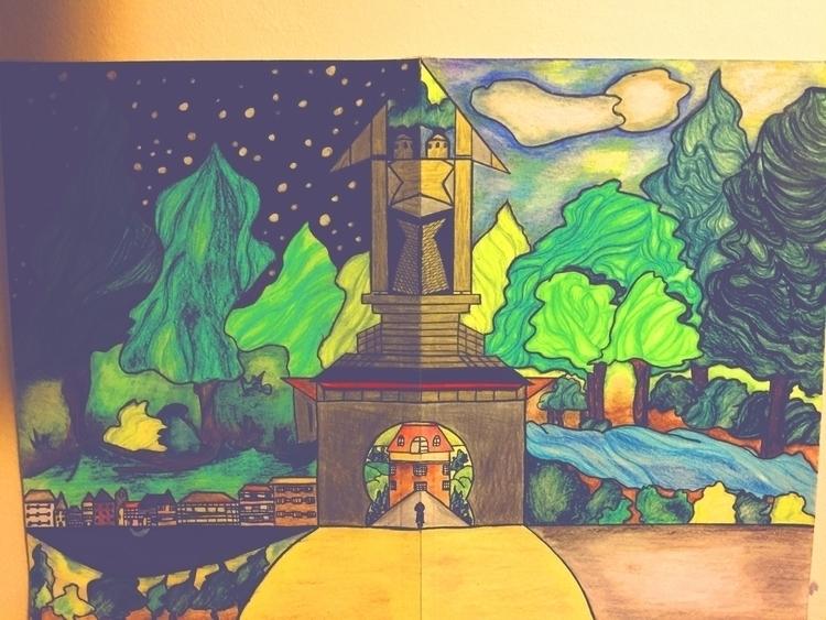 parallel universe art house - path - lowyn   ello