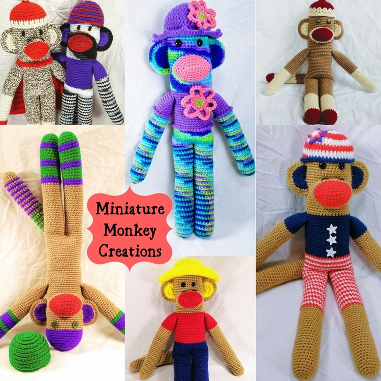 Happy Handmade Monkeys Seek Lov - miniaturemonkeycreations | ello