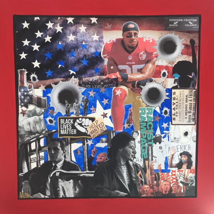 kneel focuses racism America. i - antadams | ello