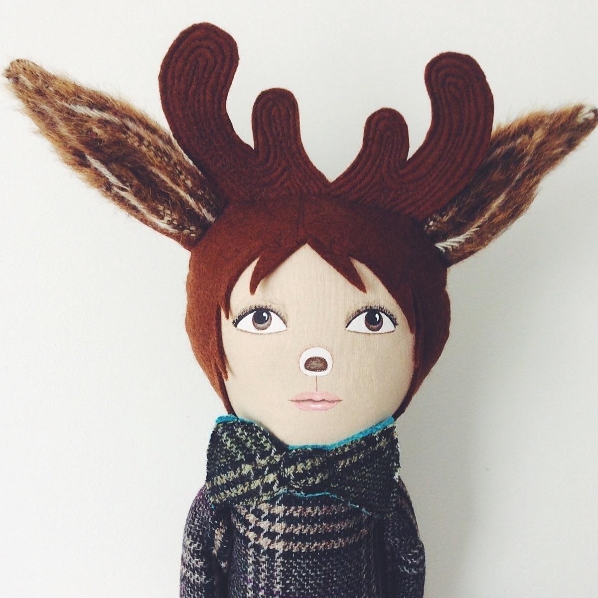 Rudolph - deerboy, youngstag, boydoll - alittlevintagedoll | ello