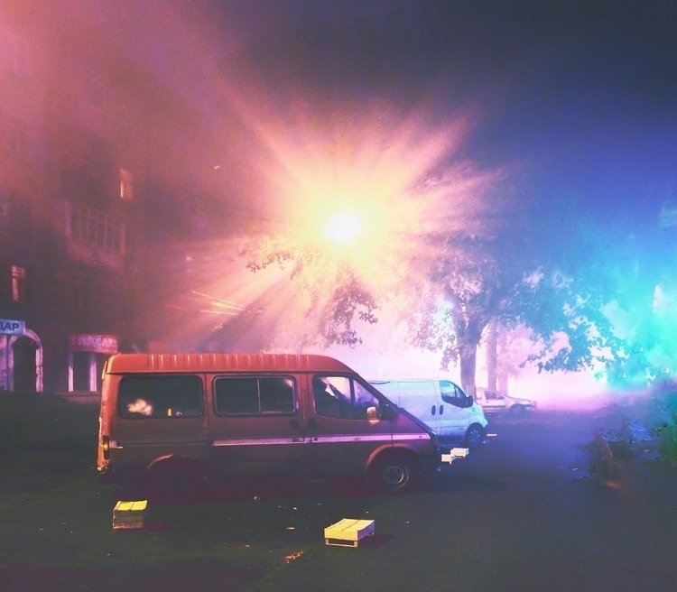 mist, night, fog, neon - oblepiha | ello