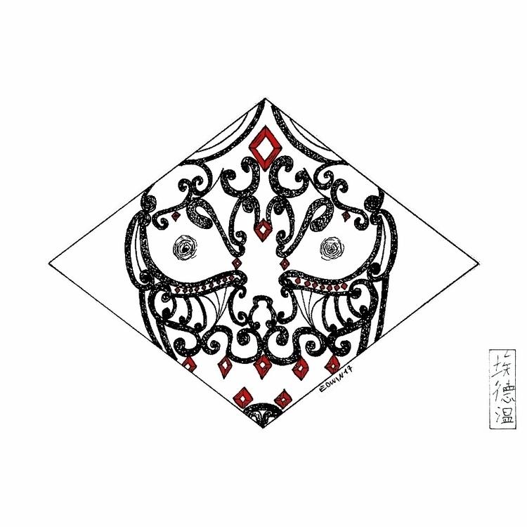 Inktober - Mask | 31.10.2017 fi - edwln | ello