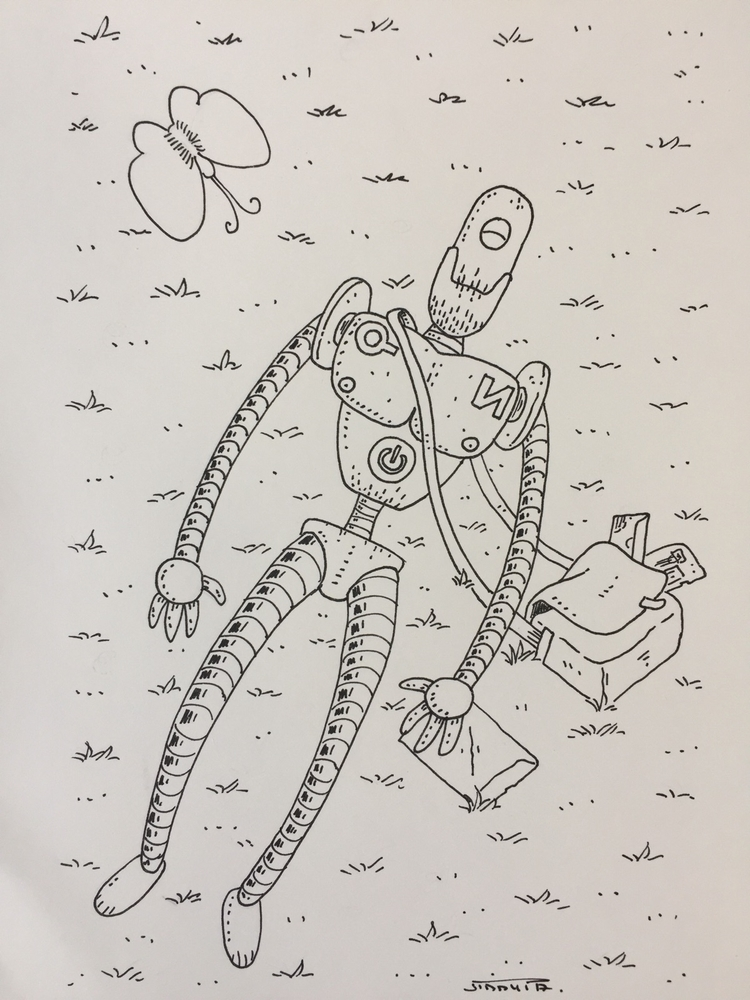 21 le robot qui dort / sleeping - jimmy-draws | ello