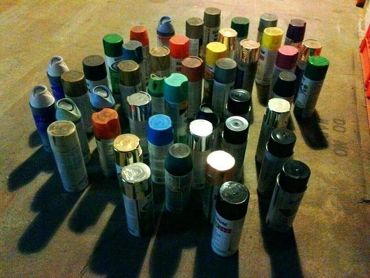 spraypaint, empties - anthonycandkarenm   ello